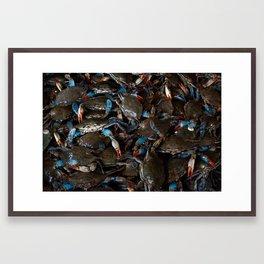 CRABS ON CRABS Framed Art Print