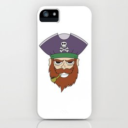 Pipe Smoking T-Shirt For Pipe Smoker Captain Pipe iPhone Case