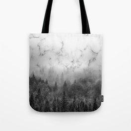 Marble Woods Tote Bag