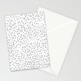 grey spots minimalist decor modern gifts grey and white polka dot brushstroke painting Stationery Cards