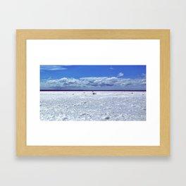 Salty horizon Framed Art Print