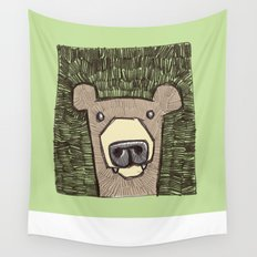 dack the bear Wall Tapestry