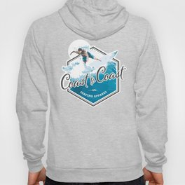 Surfing Coast to Coast Hoody