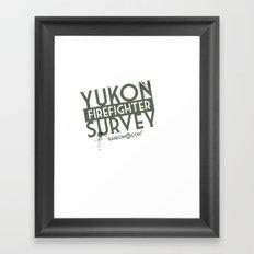 Yukon Firefighter Survey Framed Art Print