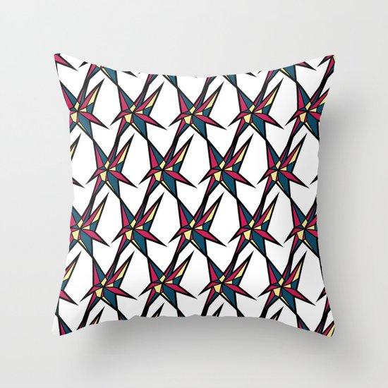 Crystallis [WHITE] Throw Pillow