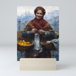 Aleksander Gierymski Jewish Woman Selling Oranges Mini Art Print