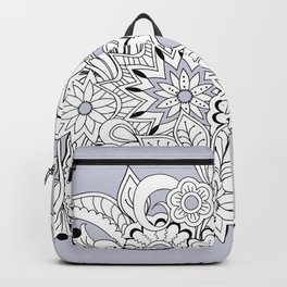 garmony floral tangled composition on the grey Backpack