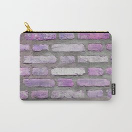 Venetian Bricks in Pink and Lavender Carry-All Pouch