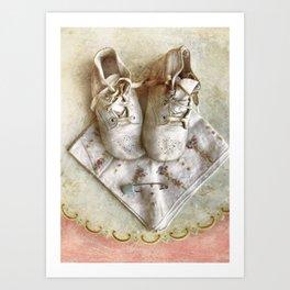 Baby's Shoes Art Print