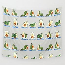 Avocado Yoga Watercolor Wall Tapestry