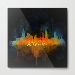 Atlanta City Skyline UHq v4 Metal Print