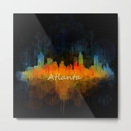 Atlanta City Skyline UHq v4 Metal Print