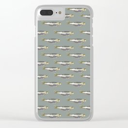 Anchovies Group Print Pattern Clear iPhone Case