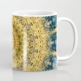 Antique Gold Blue Mandala Design Coffee Mug