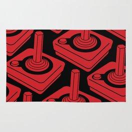 Atari 2600 Joystick Pattern in Red and Black Rug