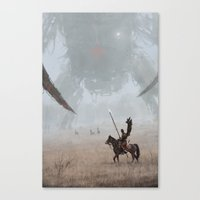 Canvas Prints featuring 1920 - hussar by Jakub Rozalski