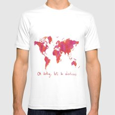 Oh, Darling White Mens Fitted Tee MEDIUM