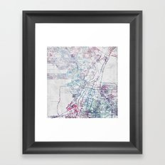Albuquerque map Framed Art Print