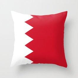 Flag Of Bahrain Throw Pillow