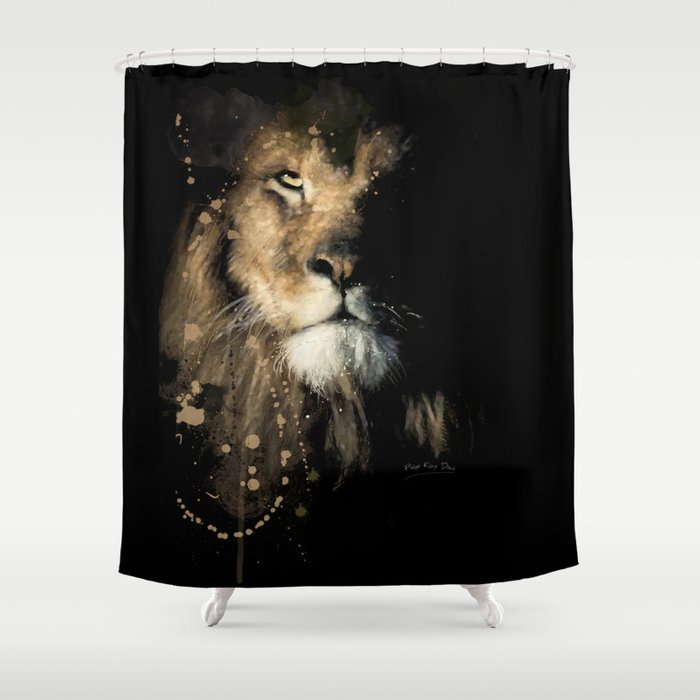 Lion Shower Curtain By Philipekling