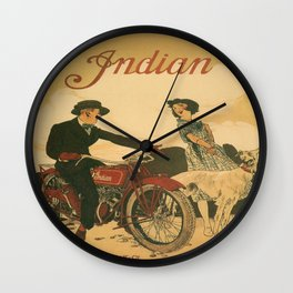 Vintage poster - Indian Motorcycles Wall Clock