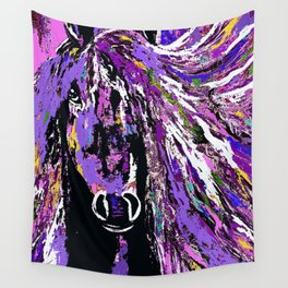 HORSE WILD AND PRETTY OIL PAINTNG Wall Tapestry