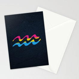 Pansexual Pride Flag Aquarius Zodiac Sign Stationery Cards