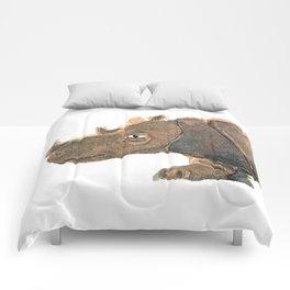 Thinking Rhinoceros Comforters