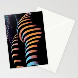 7485s-MAK Zebra Striped Curves Butt Thighs Bum Ass Rear Bottom Stationery Cards