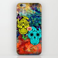 sugar skulls iPhone & iPod Skins featuring Sugar Skulls by haroulita