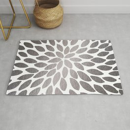 Brush strokes - silver Rug
