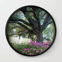 Oaks and Azaleas Wall Clock