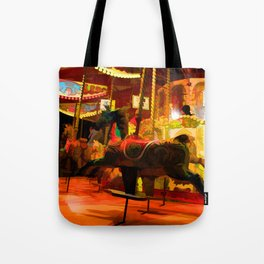 Midnight Carousel Ride Tote Bag