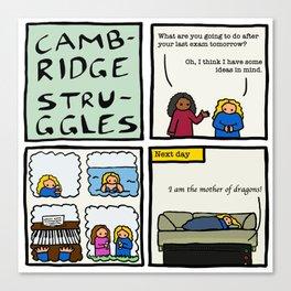 Cambridge struggles: Plans Canvas Print