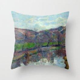 """Paul Gauguin """"Paysage de Bretagne (Britanny landscape)"""" Throw Pillow"""