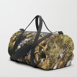 Becky Falls with texture Duffle Bag
