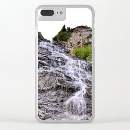 Mountain waterfall, Transfagarasan, Romania Clear iPhone Case