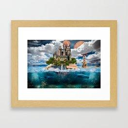 Book Castle Framed Art Print