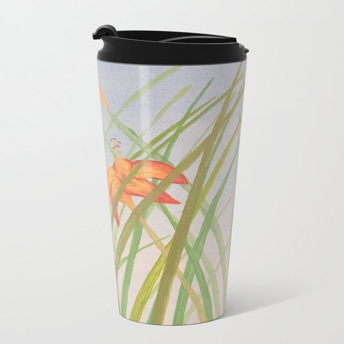 Lily Bloom Metal Travel Mug