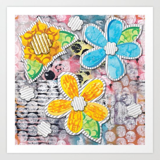 Paper Flower Power Art Print