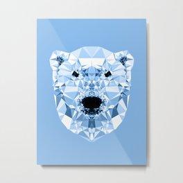 Diamond Polar Bear Metal Print