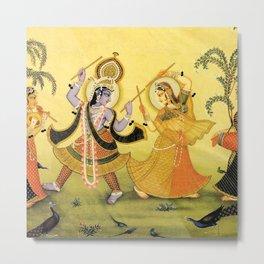 Krishna - Hindu Metal Print