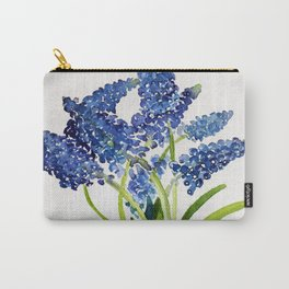Watercolour Grape Hyacinth Carry-All Pouch