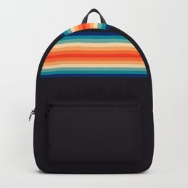 Shina - Classic Rainbow Colors 70s Vintage Style Retro Summer Stripes Backpack