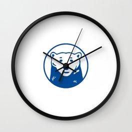 Blue Bear Wall Clock