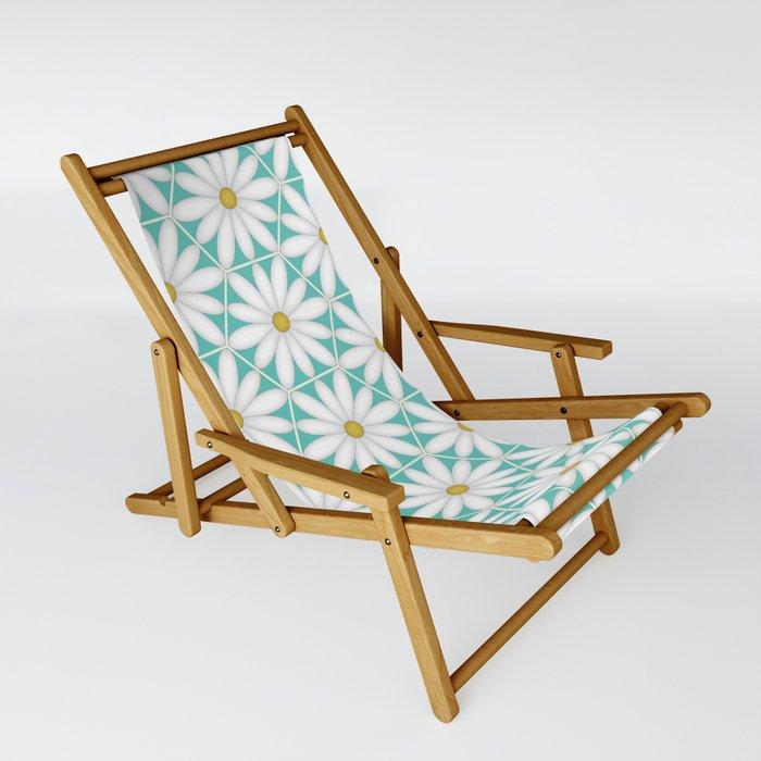 Daisy Hex - Turquoise Sling Chair