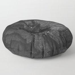 Black Texture (Black and White) Floor Pillow