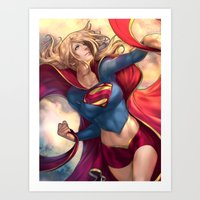karu kara Art Prints featuring Kara Soars by Reza Kabir