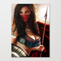 persian Canvas Prints featuring Persian Warrior by Gerald Jelitto