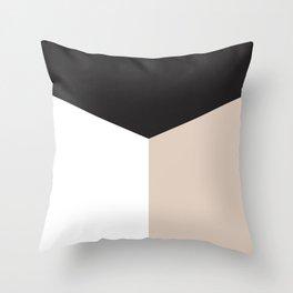 Blocked Sand Throw Pillow